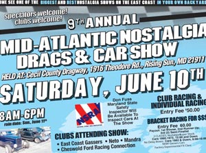9th Annual Mid-Atlantic Nostalgia Drags & Car Show